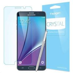 Protect your Galaxy Note 5 screen with strength that goes beyond the naked eye. Spigen's Crystal Screen Protector offers intense transparency with its high qual Mobiles, Samsung Mobile, Galaxy Note 5, Screen Protector, Phone Cases, How To Plan, Crystals, Glass Film, Fingerprints