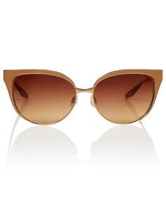 Barton Perreira Gold Valerie Browline Retro Sunglasses
