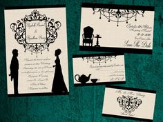 And these Pride and Prejudice-style invitations: