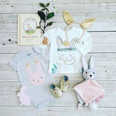 "NOC NOC WOODEN TOYS on Instagram: ""This bunny themed #flatlay by @carmenconnell features our Sitting Rabbit which along with our Dark & Light Chicks would make sensational Easter presents. Xx #nocnocwoodentoys #easter #easterbunny #love #baby #babylay"""