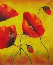 Hasil gambar untuk kırmızı çiçek yağlı boya resimleri