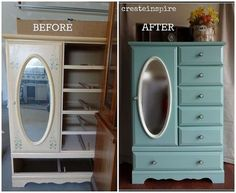 wardrobe makeover, painted furniture