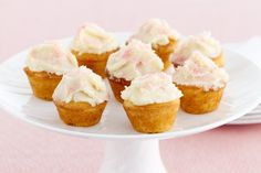These cute mini cupcakes are simply heavenly.
