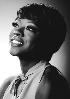 Voila, it's Viola Davis! This stunning portrait of actress Viola beautifully captures her sweet smile and gorgeous eyes. Talk about a beautiful women-- inside & out!