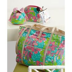 wherever your winter getaway is this year, Lilly Pulitzer has great accessories to help you travel in style