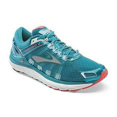 Brooks Women's Transcend 2 Caribbean/Poppy/White Sneaker 8 B (M)