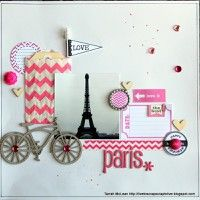 Paris by Tarrah from our Scrapbooking Gallery originally submitted 07/28/13 at 04:05 AM