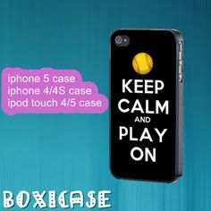 Keep Calm And Play On---iphone 4 case,iphone 5 case,ipod touch 4 case,ipod touch 5 case,in plastic,silicone and black , white. by Boxicase, $14.95