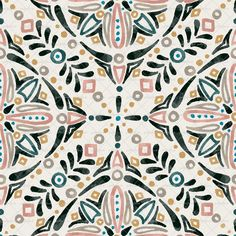 beautiful watercolor surface pattern design pattern Watercolor Medallion by JoAnna Seiter Seamless Repeat Royalty-Free Stock Pattern Geometric Patterns, Textile Patterns, Print Patterns, Textiles, Ethnic Patterns, Design Patterns, Boho Pattern, Pattern Art, Abstract Pattern