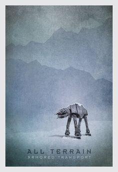 Star Wars Transport Series - by pacalin Star Wars Episoden, Star Wars Vehicles, Star Wars Prints, Star War 3, Star Wars Poster, Love Stars, Geek Art, Far Away, Geek Stuff