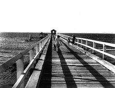 Max Dupain Exhibition Photography: black & white photography, iconic Australian photographer, exhibition archive, landscapes, nudes, still life and Sydney.  The Jetty, Silver Beach, 1952