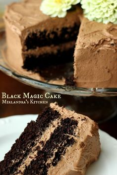 DESSERTS This Black Magic Cake is rich and chocolaty with velvety chocolate frosting. When it comes to chocolate cake this one is king.