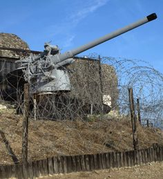 German coastal gun at the Normandy beaches. Re-Pinned by HistorySimulation.com