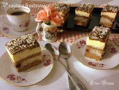 Create an account or log in to Traiborg. Sweets Recipes, Desserts, Romanian Food, Romanian Recipes, Dessert Drinks, Coco, Cupcake Cakes, Food To Make, Bakery