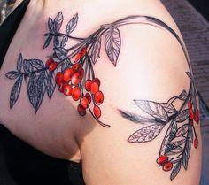 Rowan berries / botanical by Barbara Swingaling #ink #tattoo