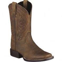 10004853 Ariat Kids Quickdraw Western Boots - Brown www.bootbay.com