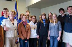 Tammy and the UW-Oshkosh College Democrats