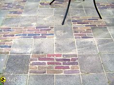 This path is so charming and old fashioned. it is made in concrete tiles and brick. it would be perfect for my terrace #brickFloor #concreteFloor