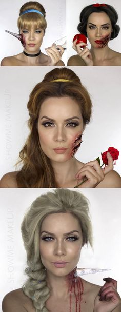 Makeup artist Shonagh Scott reimagined your favourite Disney princesses as victims of tragic events that were inspired by the original story lines. If that sounds creepy, that's because it is, but Halloween is creepy too, so it all kind of makes sense. Got to give it to her though: Her princess transformations are pretty spot-on and the gory makeup is disturbingly believable too.