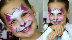 Super Fast & Easy Kitty-cat  — Face Painting for Small Kids