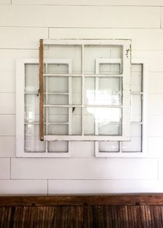How to Hang Layered Vintage Windows - Easy Farmhouse Decor DIY - Cotton Stem Hey friends! I've had several questions regarding these layered vintage windows that I used in my fall farmhouse style e. Easy Home Decor, Home Decor Kitchen, Cheap Home Decor, Rustic Entryway, Rustic Decor, Rustic Signs, Boho Decor, Modern Farmhouse Decor, Farmhouse Style