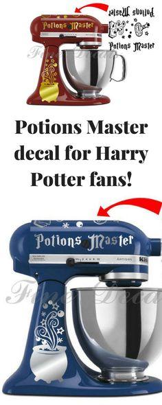 Kitchen Mixer Harry Potter Inspired Potions Master Set Decal Hogwarts Vinyl Decal Sticker KitchenAid Bestseller! #harrypotter #potions #mixer #affiliate