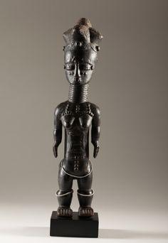 Anyi or Agni People, Subgroup Alangwa, Female Statue, Maître des Couronnes, Southeastern Ivory Coast