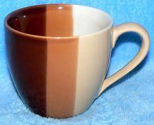 STARBUCKS COFFEE 2005 12 OZ BROWN TAN OMBRE SHADES STRIPES COFFEE TEA MUG CUP   My old fav. mug that broke
