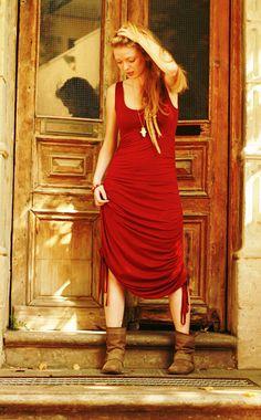 Bohemian Maxi Dress Adjustable Goddess Maxi Dress by Picarona, $74.00