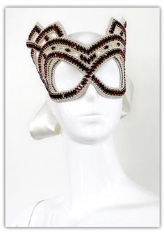 Julia Clancey Duchess Art Deco Crystal Swarovski Mask