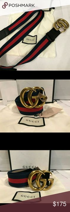 Gucci belt signature blue red 100% authentic. I have more designer items available. Want for $150? Text me (773) 831 8509 Gucci Accessories Belts
