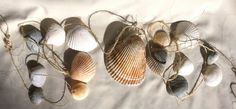 Shell Garland  Beach Coastal Decor  Cascading by jenmesacreative