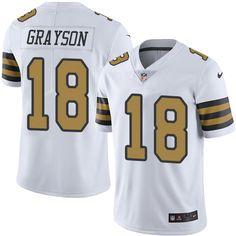 Men's Nike New Orleans Saints #18 Garrett Grayson Limited White Rush NFL Jersey