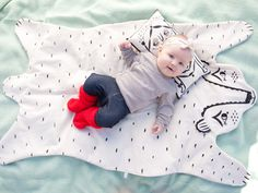 Heirloom bear blanket by Roxy Marj on Etsy | via Daily Candy's 28 Wild Ways to Update Kids' Rooms