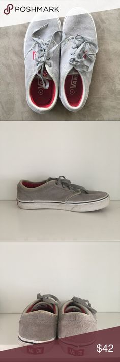 Grey suede vans Pre loved and in good condition - no major flaws just some dirt on the outsoles from wear. The most comfortable shoes ever Vans Shoes