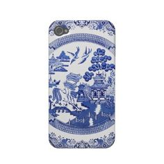 Classic willow pattern iphone 4 case