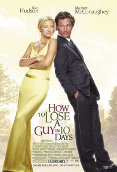 """Directed by Donald Petrie.  With Kate Hudson, Matthew McConaughey, Adam Goldberg, Kathryn Hahn. Benjamin Barry is an advertising executive and ladies' man who, to win a big campaign, bets that he can make a woman fall in love with him in 10 days. Andie Anderson covers the """"How To"""" beat for """"Composure"""" magazine and is assigned to write an article on """"How to Lose a Guy in 10 days."""" They meet in a bar shortly after the bet is made."""