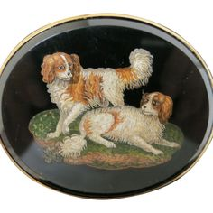Time after time we have searched for one of the Victorian or Georgian prized and popular animal micro-mosaics.  This example is a first for us--two