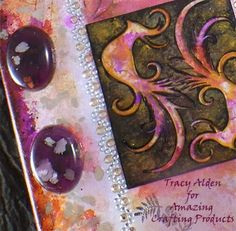 Amazing Mold Putty: Two for TANGO?? AMAZING Mixed Media Canvas Inspiration by Tracy Alden