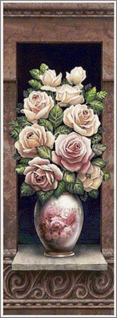 белые цветы - Схемы вышивки - stellа - Авторы - Портал «Вышивка крестом»