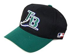 Tampa Bay Devil Rays Team MLB Adjustable Velcro Tab Hat (Size Small To Medium)