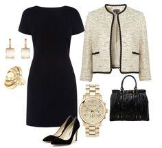 Модный и элегантный образ деловой женщины.