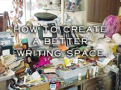 Avoiding Atrophy: How To Create A Better Writing Space (And Other Thoughts on Writing)...lol this is totally my desk. *