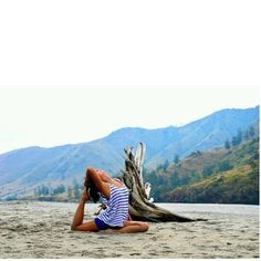 #Scenic #Yoga #Pose #Exercise #Landscape #Beach #Sand #View