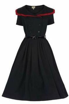 Viola Dress Black Bordeaux