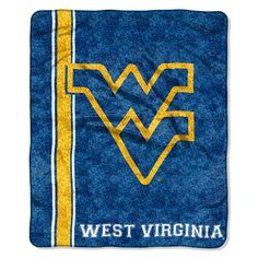 """West Virginia OFFICIAL Collegiate, """"Jersey"""" 50""""x 60"""" Sherpa Throw by The Northwest Company"""