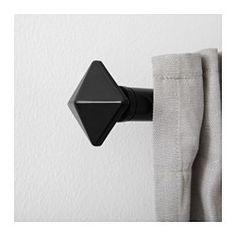 ENTRERÄTT Finials, 1 pair, black - - - IKEA