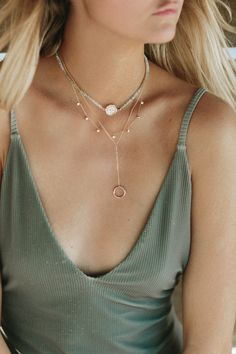 $27.00 Adelaide Chain Necklace   $52.00 Hayley Droplet Necklace