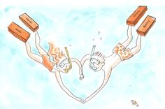 How deep is your love?     Drawing by Alice Charbin for www.hermes.com