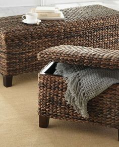 The handsome Solano Storage Ottoman is a functional piece that adds style to any room.